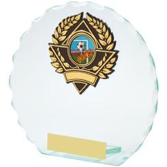 "Round Jade Glass Award - 14.5cm (5 3/4"")"