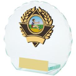 "Round Jade Glass Award - 11cm (4 1/4"")"