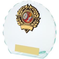 "Round Jade Glass Award - 12.5cm (5"")"
