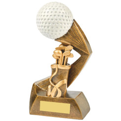 "Antique Gold/White Golf Ball Action Award - 18cm (7"")"