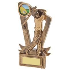 """Gold Resin Mens Golf Award - 15cm (6"""")"""