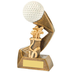 "Antique Gold/White Golf Ball Action Award - 16cm (6 1/4"")"