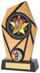 "Black/Gold Resin Holder Darts Award - 20cm (8"")"