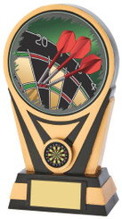 "Black Gold Darts Resin holder - 20cm (8"")"