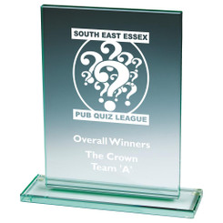 "Jade Glass Rectangle Award - 21.5cm (8 1/2"")"