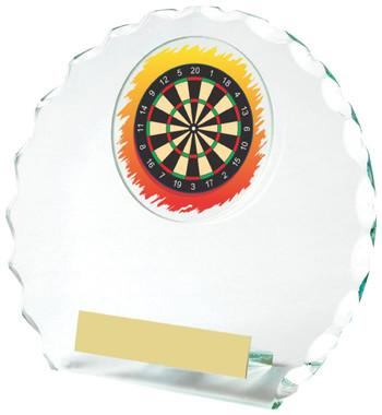 "Round Jade Glass Darts Award - 14cm (5 1/2"")"