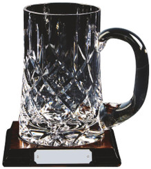 Crystal Tankard on Wood Stand