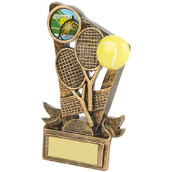 "Gold Resin Tennis Rackets Award - 13cm (5"")"