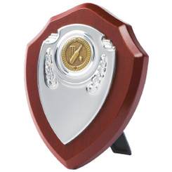 "Chrome Fronted Shield Trophy - 13cm (5"")"
