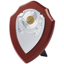 "Chrome Fronted Shield Trophy - 18cm (7"")"
