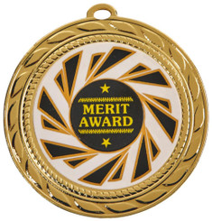 "70mm ""Sun Burst"" Sports Medals - Gold"