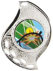 Flame Design Medal - Silver