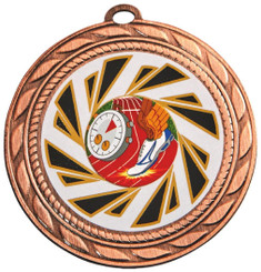 "70mm ""Sun Burst"" Sports Medals - Bronze"