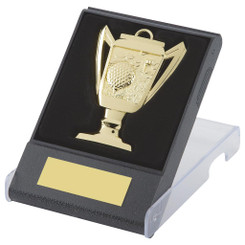 Cup design Golf Medal in Case - Gold