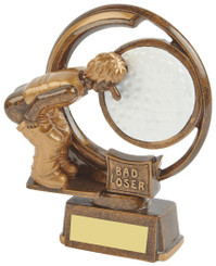 "Bad Loser - Novelty Golf Trophy - 15cm (6"")"