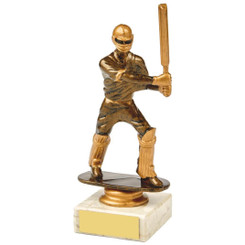 Antique Gold Cricket Batsman Award - 16cm