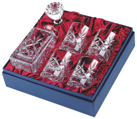 Crystal Spirit Decanter & 4 Tumblers in Presentation Box - TW18-221-KL983