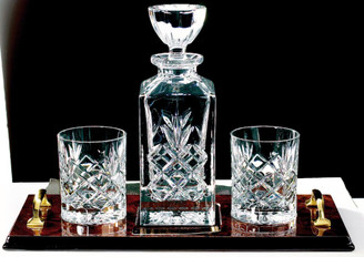 Crystal Decanter Set with 2 Glasses - TW18-220-KL428