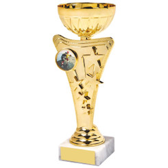 Shiny Gold Star Trophy Cup - 19cm