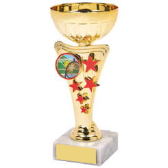 Gold/Red Star Trophy Cup - 16cm