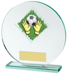 "Jade Glass Goalkeeper Award - 15cm (6"") - TW18-031-523ZAP"