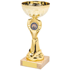 Shiny Gold Trophy Cup Award - 20.5cm