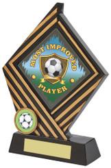 "Black/Gold Rhombus Resin Award - 19cm (7 1/2"") - TW18-030-752ZAP"