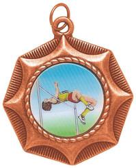 45mm Star Design Sports Medal - Bronze
