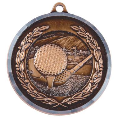 Diamond Edged Golf Medal - Bronze