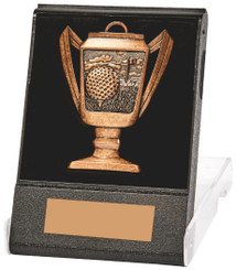 Cup Design Golf Medal in Presentation Case - TW18-170-210C - Bronze