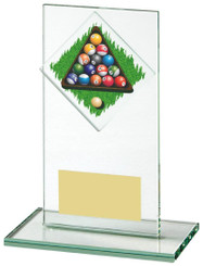 "Jade Glass Upright Award for Pool - 14cm (5 1/2"")"