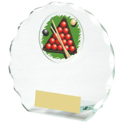 Circular Jade Glass Snooker Award - 11cm