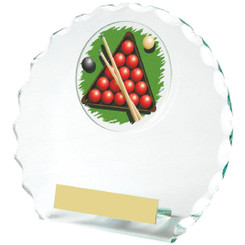 Circular Jade Glass Snooker Award - 14cm