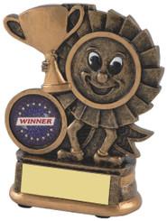 """Gold Resin Happy Winner Rosette Award - TW18-112-RS251 - 10cm (4"""")"""