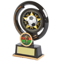 "Black and Gold Circular Football Award - 13cm (5"")"