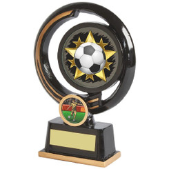 "Black and Gold Circular Football Award - 16cm (6 1/4"")"