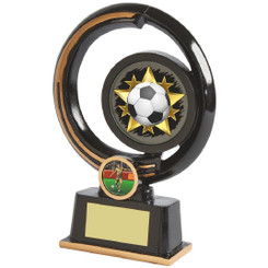 "Black and Gold Circular Football Award - 19cm (7 1/2"")"
