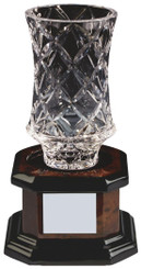 "Lead Crystal Vase Award - 23cm (9"")"