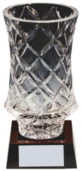 "Lead Crystal Vase Award - 18cm (7"")"