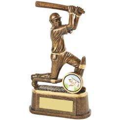 "Gold Cricket Batsman Trophy - 17cm (6 3/4"")"