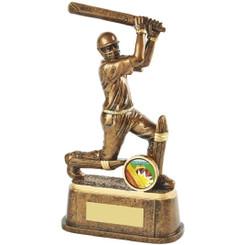 "Gold Cricket Batsman Trophy - 20cm (8"")"