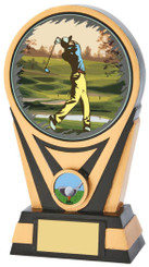 "Resin Gold/Black Golf Award - 17.5cm (7"")"
