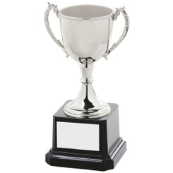 "Elegant Nickel Plated Trophy Cup - 15cm (6"")"