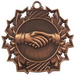 60mm Stars Friendship Medal - Bronze