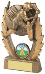 "Gold Male Cricket Resin Award - 13cm (5"")"