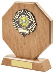"Light Wood Octagon Sports Award - 18cm (7"")"