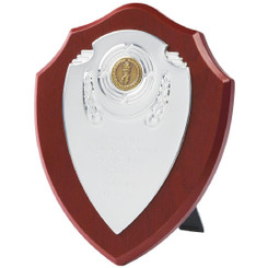 "Chrome Fronted Shield Trophy - 20cm (8"")"