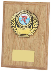 "Light Wood Plaque Award - 15cm (6"")"