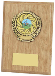 "Light Wood Plaque Award - 18cm (7"")"