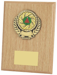 "Light Wood Plaque Award - 20cm (8"")"